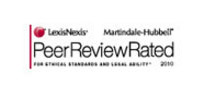 peer review rated from martindale hubbell badge